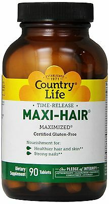 - Country Life Time Release Maxi Hair - 90 Tablets