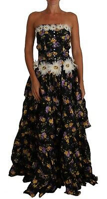DOLCE & GABBANA Sartoria Dress Ball Floral Rose Crystal IT36 /US2/XS RRP $10500