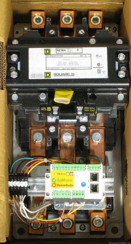 Square D 8536SGO1V07H766 Starter, Size 5, 24 VDC Control, Ethernet, NEW!