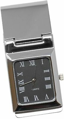 Square Black Watch Stainless Steel Hinged Money - Hinged Clip Watch