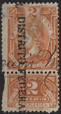 Mexico   2C Orange Internal Revenue  1903 1904  Liberty  With Talon Attached