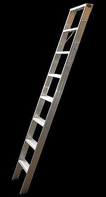 Regalleiter mit Gummi-Anlegern 11 Stufen, für senkrechte Höhe v. 2,75m