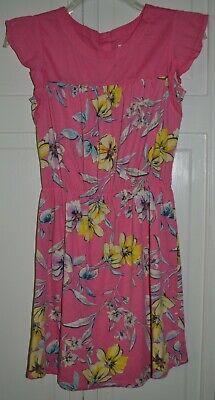GAP KIDS GIRL Pixie Dust Pink Dress Floral X-LARGE (12)