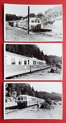3 x DDR Foto Eisenbahn BnB Triebwagen Tschechien     ( 23173