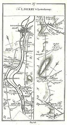 Antique map, Road from Drogheda to Letterkenny (3)