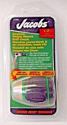 Jacobs 31048 12 Capacity Soft Grip Sleeve Keyless Drill Chuck 12-20 Mount