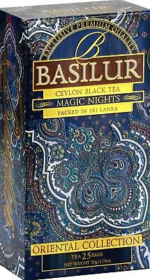 Basilur Ceylon Tea    Oriental Magic Night  Fbop Ceylon Black Tea 25 Bags