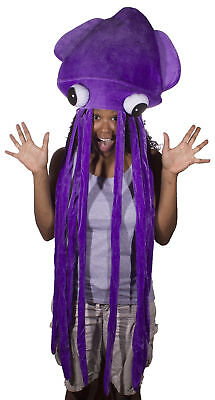 Giant Squid Costume (Costume Accessory Giant Extra Long Felt Squid Hat in Choice Of)
