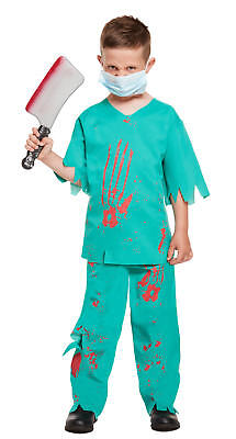 Kinder Blutig Arzt Kostüm 10-12 Jahre - Kostüm Kinder Halloween Gruslige (Arzt, Kostüme 10)
