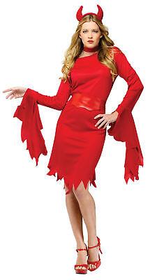 Fun World Women's Red Devil Halloween Costume Adult One Size up to 14 Red #5411 (Fun World Halloween Kostüme)