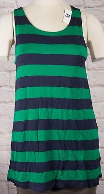 NWT Womens GAP Sleeveless Tank Top Luxe Rayon/Viscose Cool Stripe - 976396