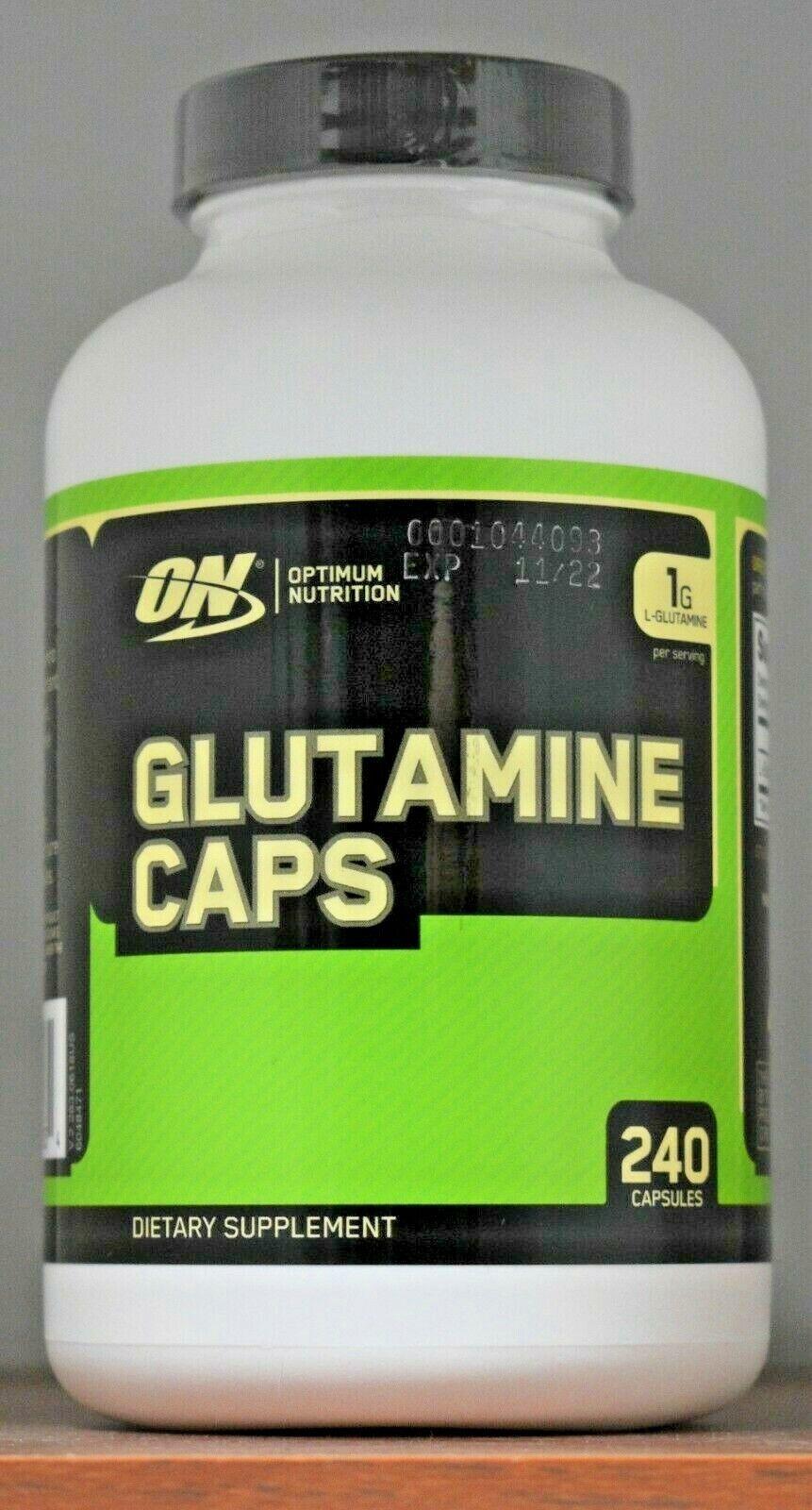 Optimum Nutrition Glutamine caps 1G L-Glutamine 1000mg ON 24