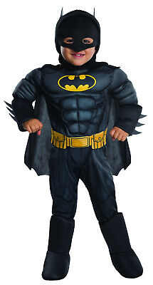 Toddler Batman Deluxe Muscle Chest Costume Superhero Halloween Toddler Size 2-4 - Toddler Batman Halloween Costumes