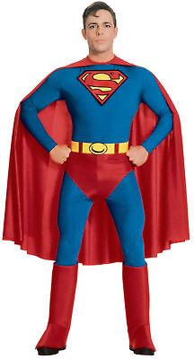 SUPERMAN ADULT COSTUME SuperHero Classic Comic Book Movie - Comic Themen Kostüm
