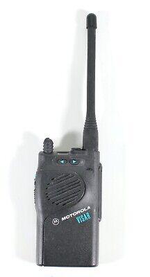 Motorola Visar VHF Two Way Radio With Antenna No Battery H05KDD9AA4AN Tested
