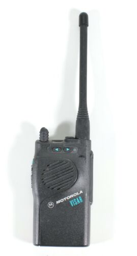 Motorola Visar VHF Two Way Radio With Antenna No Battery H05KDD9AA4AN Tested
