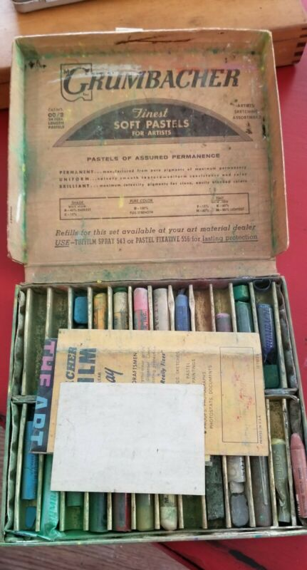 Vintage Grumbacher 24 Assorted Soft Pastels Set No. 2