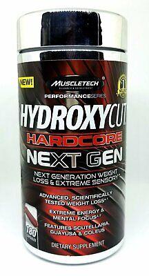 MuscleTech Hydroxycut Hardcore Next Gen Supplement, 180 Coun