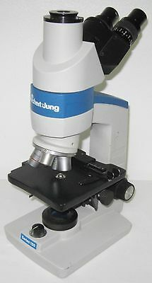 Reichert-jung Trinocular Microscope 4x 10x 40x 100 Oil Objectives Great Value