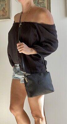 Authentic Vintage GUCCI Black Monogram GG purse BAG Cross-body