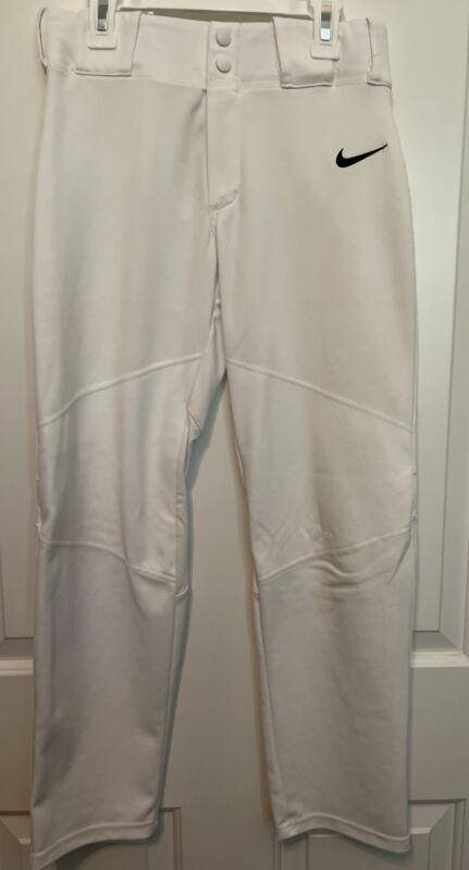 Boys Nike White Baseball Pants Size Large