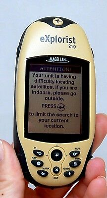 NEW Magellan eXplorist 210 Handheld GPS Unit Waterproof Hiki
