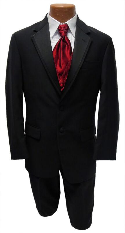 48R Black Wool Ralph Lauren Newport Jacket & Pants Tuxedo Prom Wedding Formal