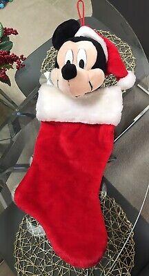 Mickey Mouse Santa Plush 3D Christmas Stocking