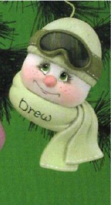 """Ceramic Bisque Ready to Paint Teenage Sno-Kin Ornament 5"""" tall~FREE SHIPPING ~"""
