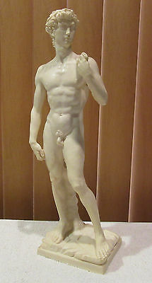 "Vintage Sculpture ""David by Michelangelo"" By A. Santini 15.5"""