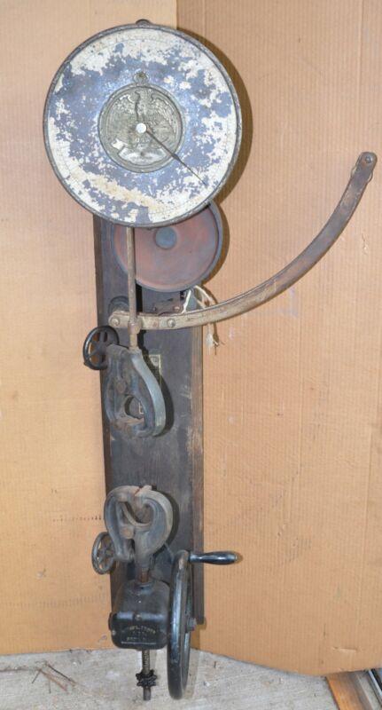 Antique museum quality Scott Metal Tester tool original patented scientific