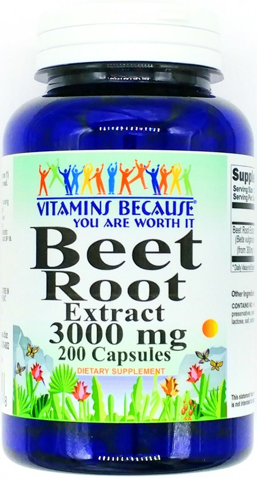 200 Capsules 3000mg Beet Root 10:1 Extract Digestive Blood Liver Support Pill VB
