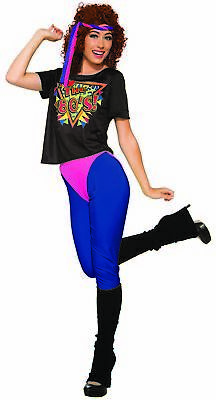 80's Workout Halloween Costume (Totally 80s To The Maxx Retro Costume Women's Workout Diva Dance Pop)