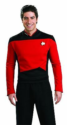 RUBIES STAR TREK Deluxe Next generation Red COMMAND HALLOWEEN COSTUME - Rubies Halloween Costume