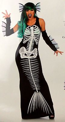 Xray Kostüm (Leg Avenue Skeleton Siren Dress Head Piece Sexy Halloween Costume 86690 Xray)