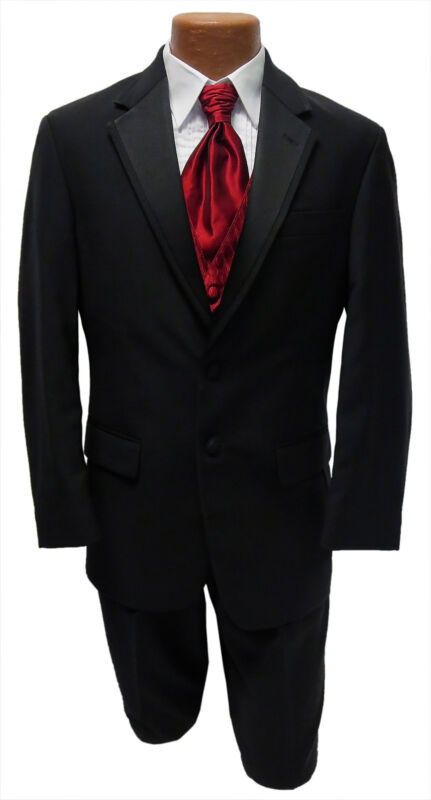 40S Black Wool Ralph Lauren Newport Jacket & Pants Tuxedo Prom Wedding Formal