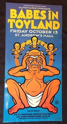 BABES IN TOYLAND Ghetto Press POSTER Clutch Cargo Detroit Friday 13th 2006