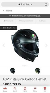 AGV PISTA GP R - NEW / NEVER USED - LARGE / CARBON MATT