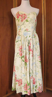 Vtg 60s 70s Dawn Joy Fashions Hippie Garden Party/Casual Dress USA S13 w/Tags