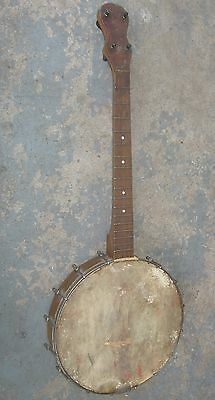 1920s Tenor Banjo. No Name. Needs New Head. Repair Project.