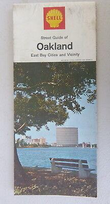 1967 Oakland East Bay street  map Shell oil  gas Hayward Fremont (Bay Street Oakland)