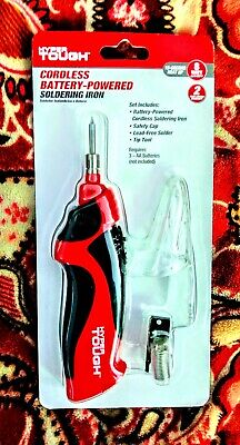 Hyper Tough Cordless Battery Operated Soldering Iron 15 Sec Heat Up-to 900fnew
