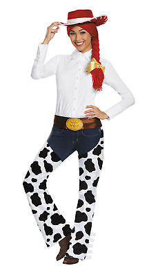 ADULT TOY STORY JESSIE DELUXE COSTUME KIT 3 PC HAT WIG CHAPS DG95781