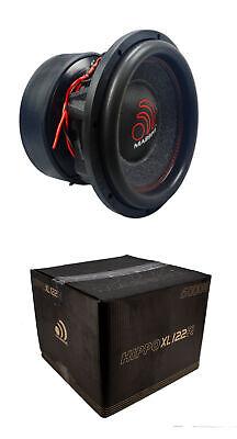 12 Inch Car Audio Subwoofer Dual Voice Coil 2 Ohm 6000W Massive Hippo XL - Voice Coil Car Subwoofer