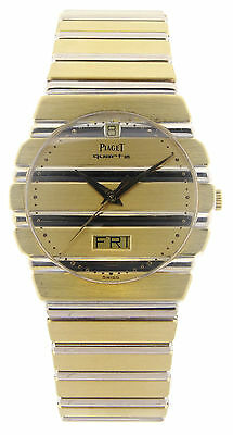 Men's 18K Yellow Gold PIAGET Polo Quartz Watch 15562 C 701 Beautiful Condition