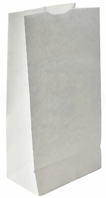 Grocery/Lunch Bag, Kraft Paper, 8 lb Capacity, (100 Count) (White) - White Lunch Bags