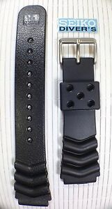 Seiko Z22 Curved Vent Rubber Strap-22mm Lug Diver's Watch, BRAND NEW, UK SELLER