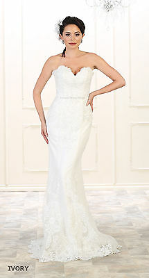 Wedding Destination Ivory Evening Gown Designer Mermaid B...
