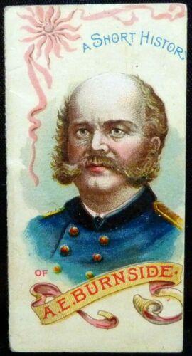 1889 DUKE N78 CIVIL WAR HISTORY OF GENERALS TOBACCO BOOKLET ~ GENERAL BURNSIDE ~