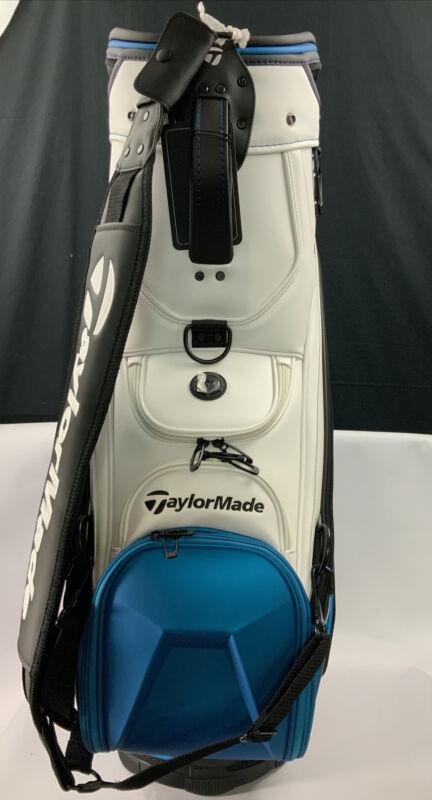 2021 Taylor Made Staff Tour Bag SIM2 Black/Blue/Lime Neon Bag Used On PGA Tour